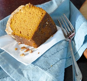 A delicious slice of Pumpkin Pound Cake